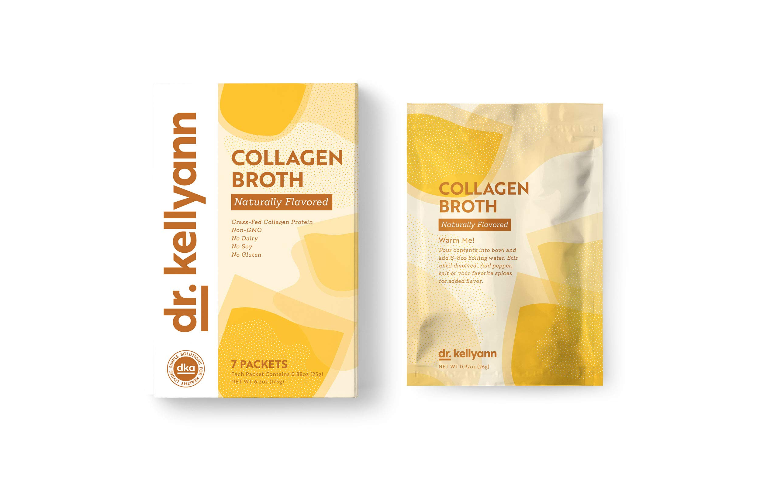Bone Broth Collagen To Go Packets: (7 servings per box) from Bone Broth Expert Dr. Kellyann | 100% Grass-Fed Collagen | Daily Serving of Collagen