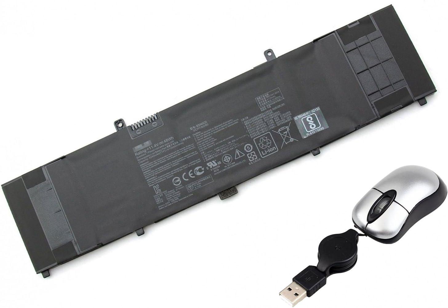Replacement Battery for Dell 93FTF, Dell Latitude E5280, E5480, 83XPC, D4CMT - Includes Mini Optical Mouse