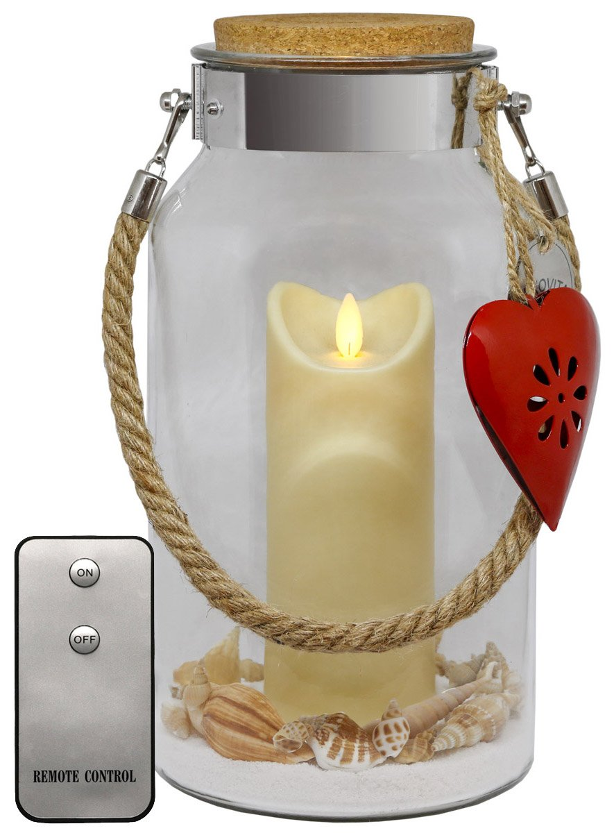 Dekovita Ostern Geschenk 30cm Deko Glas Laterne M Outdoor Led Kerze