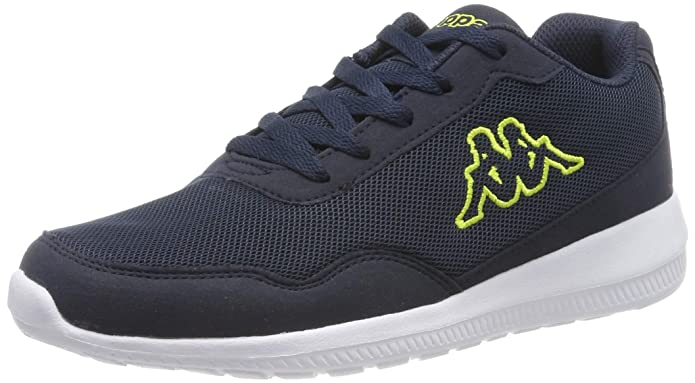Kappa Follow Sneakers Damen herren Unisex Marineblau/Lime