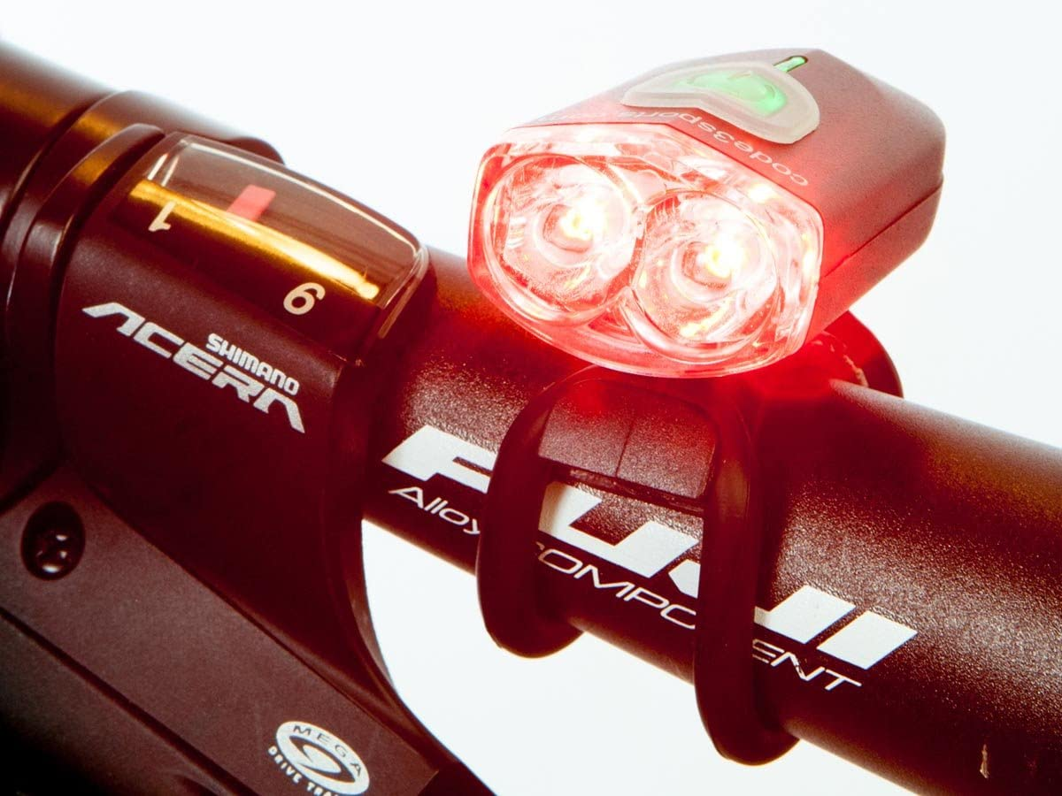 C3Sports Police or EMS Bike Light Red Red Wig-Wag Flash – Mini Pursuit Daylight Visible Also use as Taillight