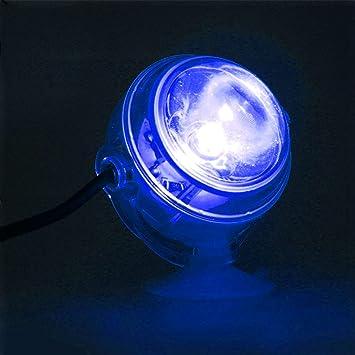SODIAL LED Lampara subacuatica LED Impermeable Enchufe de la UE 110V 220V Luz de Acuario para pecera de Coral Arrecife Luz de Acuario Sumergible Lampara de ...