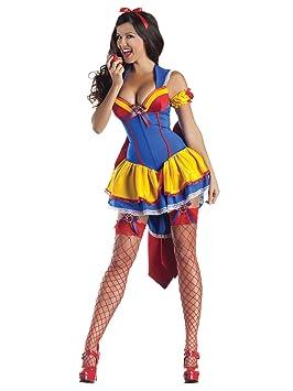Sexy cuento Princesa para mujer Disfraz Azul Amarillo Rojo