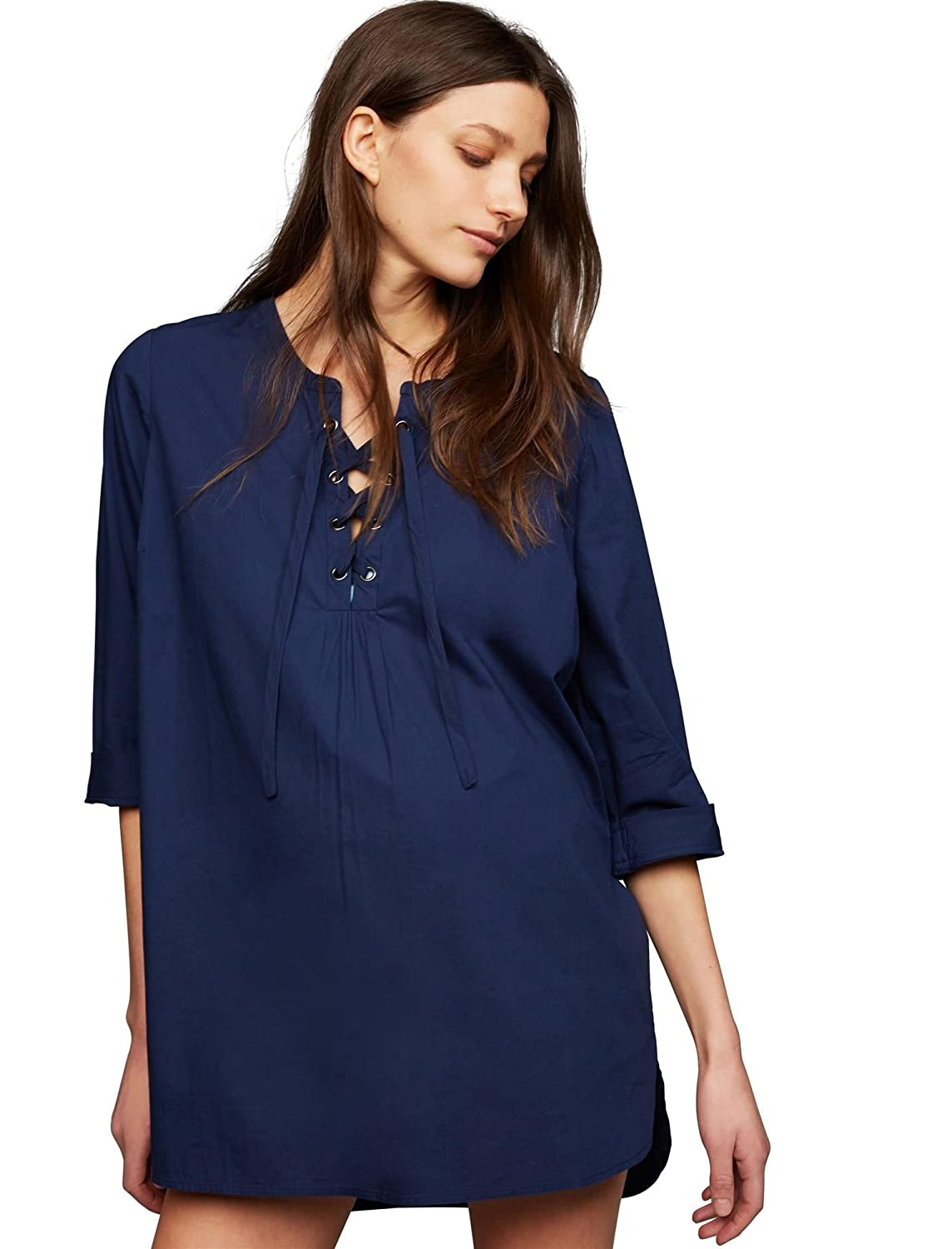 A Pea in the Pod Tie Detail Maternity Swim Cover-up