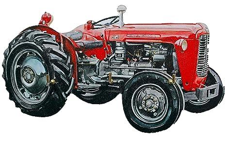 Massey Ferguson Tractor - Llavero, diseño de WT18s: Amazon ...