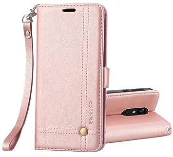 Funda Xiaomi Redmi 5, Ferlinso Carcasa Cuero Retro Elegante con ID Tarjeta de Crédito Tragamonedas Soporte de Flip Cover Estuche de cierre magnético ...