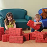 Constructive Playthings CP-626 Cp Toys Giant Durable 12 Piece Blocks Set For Indoor Play, Red