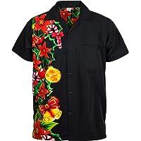 King Kameha Original Funky Hawaiian Shirt | Men | XS - 6XL | Short Sleeve | Hawaii Print | Christmas Santa X-Mas Various Designs