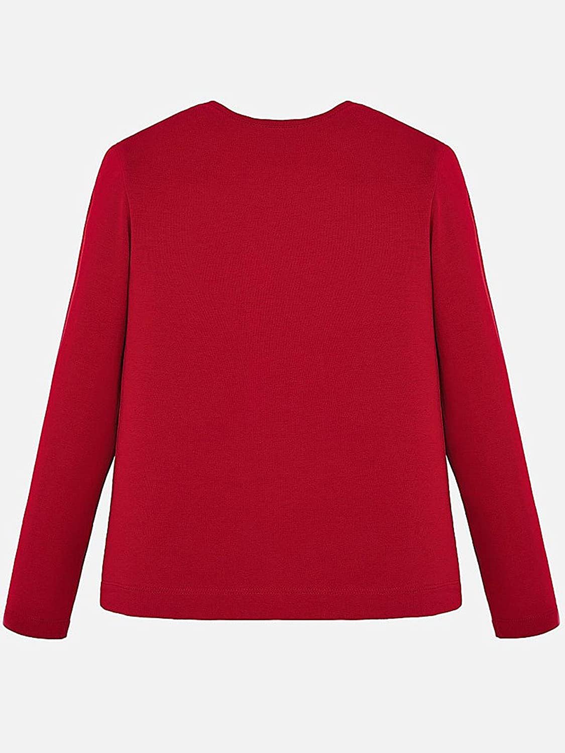 0830 Red L//s Basic t-Shirt for Girls Mayoral