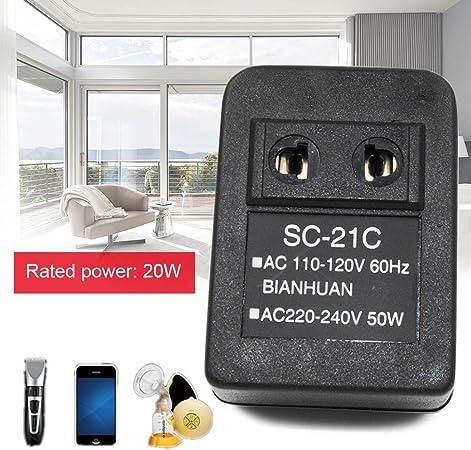 alftek AC 220 V a 110 V/110 V a 220 V AC Voltaje Corriente 20 W Adaptador de viaje Transformador regulador, 110V TO 220V: Amazon.es: Hogar
