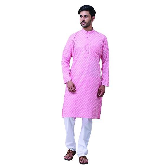 c1c2bfbfe6 FOCIL Men s Cotton Kurta and Pyjama Set  Amazon.in  Clothing ...