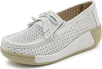 YZHYXS Women Platform Shoes Slip On Sneakers Comfort Flats Wedge Casual  Shoes 41c78f0126d