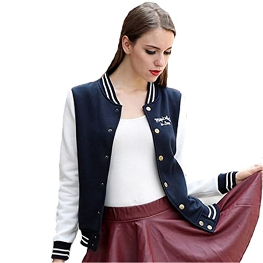 Amazon.com: YouzhiWan007 Jacket Women Coat New Baseball Veste Abrigos Y INVIERNO Hoodies Navy Blue XXL: Clothing