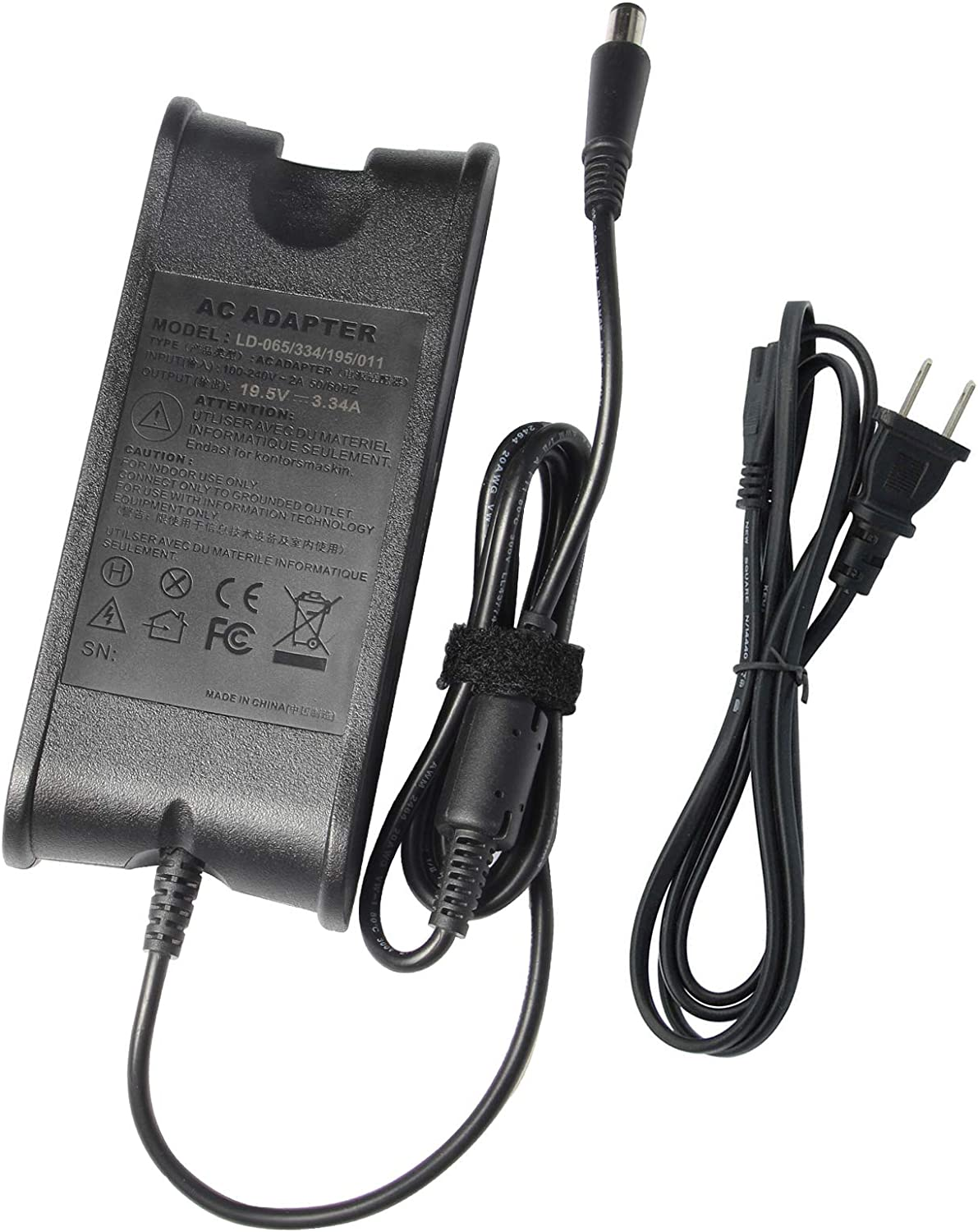 Fancy Buying 65W AC Power Adapter/Battery Charger for Dell Vostro 1000 1014 1015 1200 1220 1310 1320 1400 1500 2510 500 A840 V13 V130 N5020 P07F PP04S PP05L PP10L PP11L PP12L PP17L PP17S PP19L PP22L