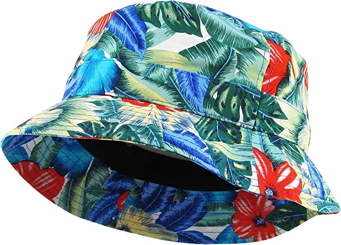 118c48b023700 KBETHOS Floral Print Bucket Hat Hawaii Hat Cap