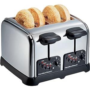 Hamilton Beach - Classic Chrome 4-Slice Extra-Wide Slot Toaster