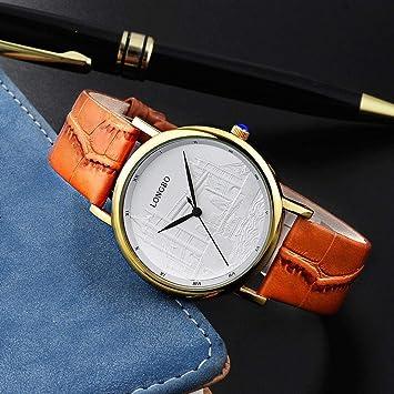 Watches Reloj de Moda Casual, London Bridge Flotador Tallado Hombres y Mujeres Relojes de Lujo