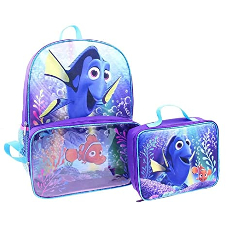 359e575cf8a Amazon.com  Disney Finding Dory Backpack and Lunch Bag Full Size 16 Inch   Toys   Games