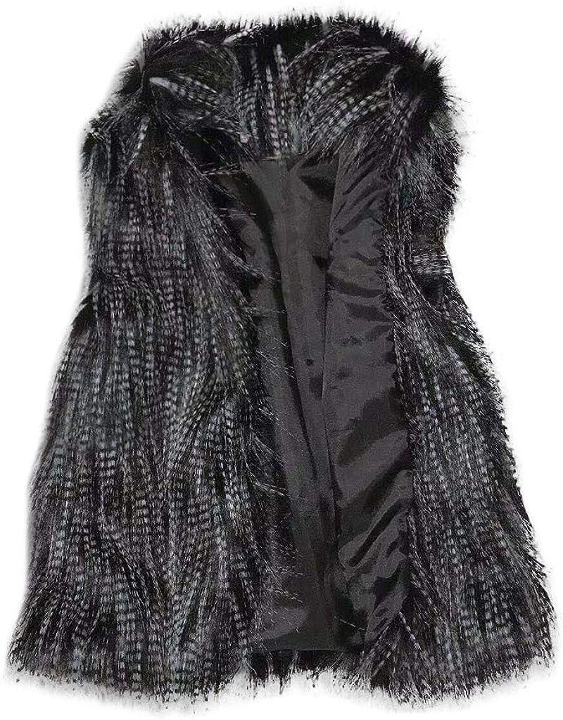 Herbst Winter Damen Weste aus Kunstpelz /ÄRmellose Jacke,Kanpola Elegant Fellweste Kurz Pelzweste D/üNne Outerwear