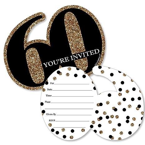 Amazon.com: Adulto 60 cumpleaños con forma de – oro – llenar ...
