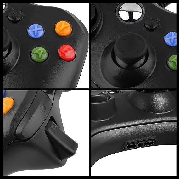 JAMSWALL Game Controlador 360 Gamepad USB con cable Joystick Controller para Microsoft Xbox y Slim 360 PC Windows 7: Amazon.es: Informática