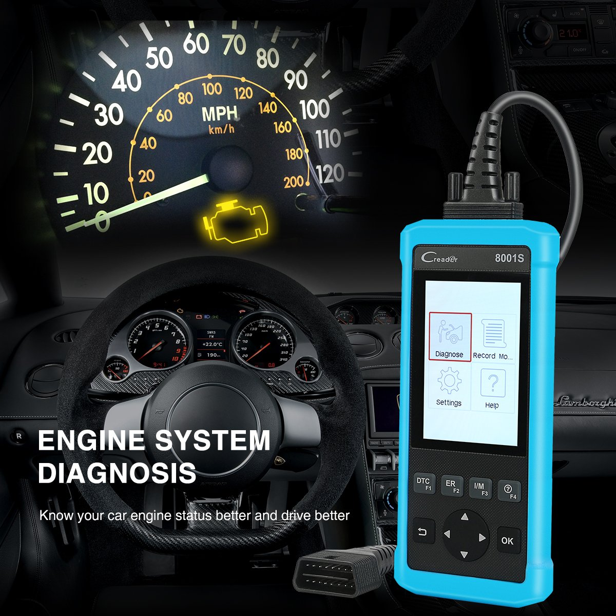 LAUNCH CR8001S Auto Scan Tool Code Reader Diagnostic OBD2 Scanner with ABS, SRS, Engine and Transmission Diagnoses and Oil Light Reset, EPB, SAS, BMS Reset by LAUNCH (Image #5)