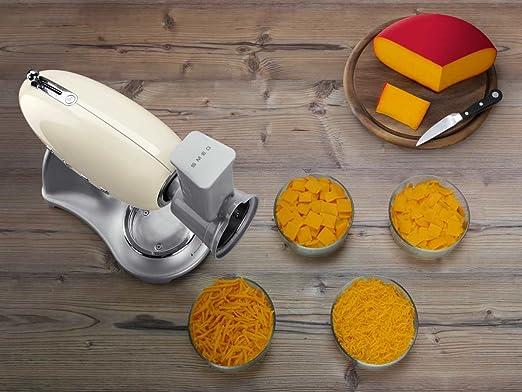 SMEG Batidora y accesorio para mezclar alimentos SMSG01, De plástico, cromo: Amazon.es: Hogar