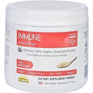 2Pack! Mushroom Matrix Immune Matrix - Organic - Powder - 7.14 oz