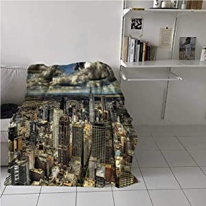 Soft Blanket Urban, Melbourne City Australia Home Decorations Perfect for Layering Any Bed for All-Season 30 x 40 Inch
