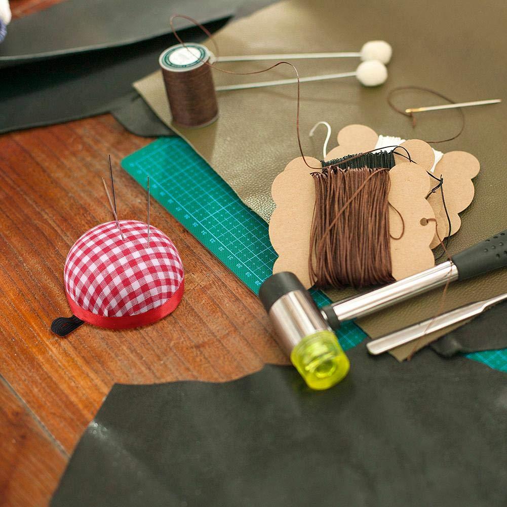 Starnearby Ball Shape Wrist Wearable Pin Cushion Needle Pin Cushion Sewing Wristband