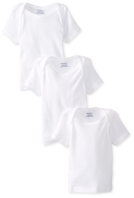 Gerber Baby Girls' 3-Pack Short-Sleeve Slip-on Shirts