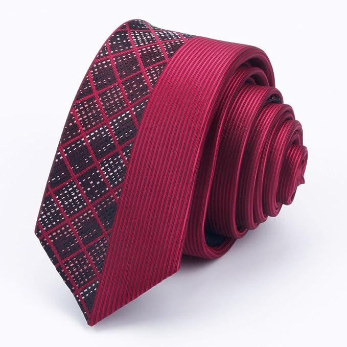 DW&HX Corbata slim skinny para hombre, Acabado de seda corbata ...