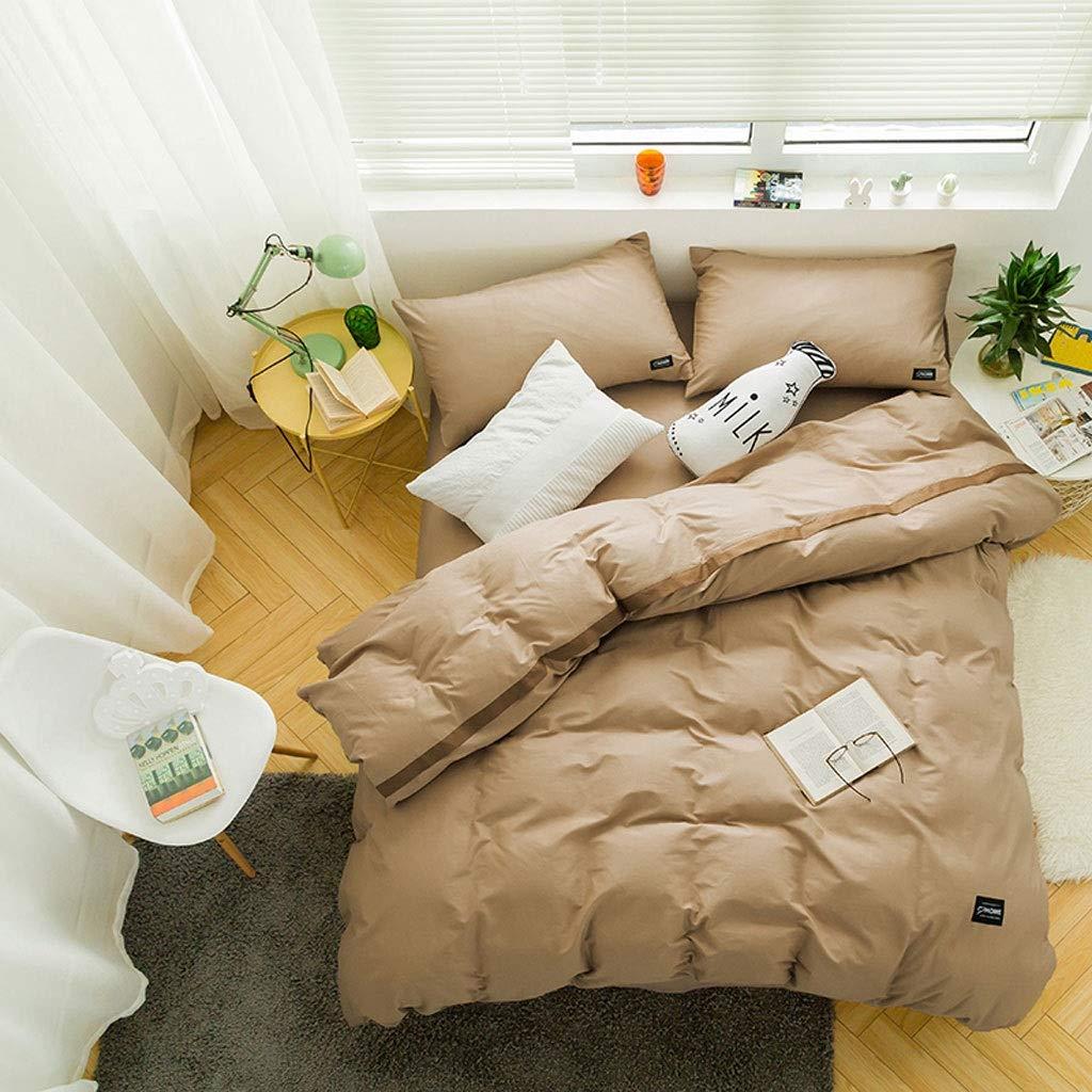 綿の無地の4部分の掛け布団カバーは二重ホテルの寝具を広げます (色 : L l, サイズ さいず : 2.0m (6.6ft)bed) B07QKYX6NV D 1.8m (6ft) bed 1.8m (6ft) bed|D