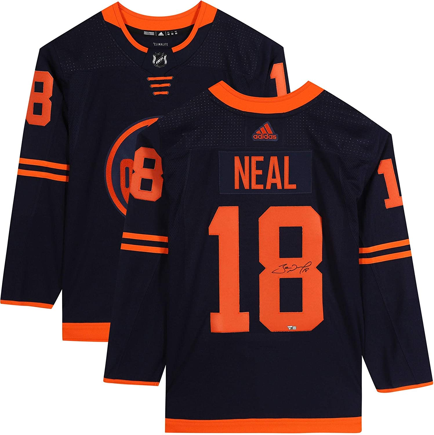 James Neal Edmonton Oilers Autographed Navy Alternate Adidas Authentic Jersey Autographed Nhl Jerseys At Amazon S Sports Collectibles Store
