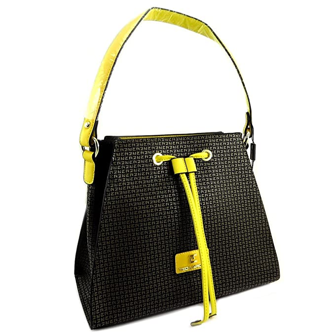 b15994c52c72 Amazon.com: Designer bag 'Ted Lapidus'brown yellow - 30.5x26x15 cm ...