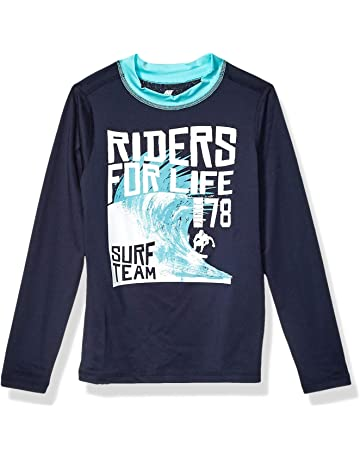 The Childrens Place Boys Graphic Short Sleeve Rash Guard