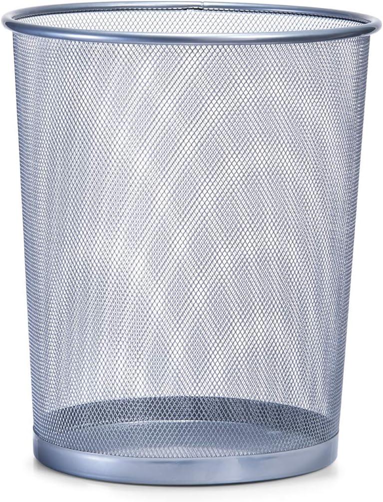 Zeller 18101 Papelera, Metal, Gris, 29.5x29.5x35 cm