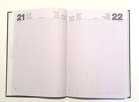 omaggio penna Pelikan a scatto AGENDA 2020 GIORNALIERA 15 x 21 cm A5 a quadretti SIMILPELLE ufficio ristorante parrucchieri blu