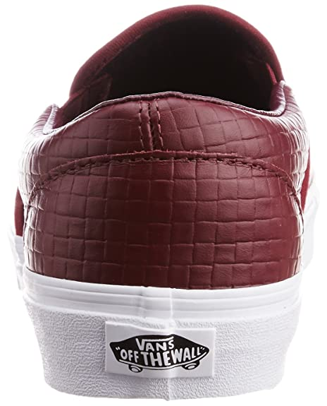 66fb07f136 Vans Men s Classic Slip-on Emboss Check Port Royale and Leather Canvas Boat  Shoes - 8 UK  Buy Online at Low Prices in India - Amazon.in