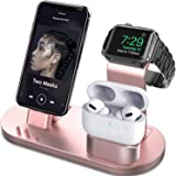 OLEBR 3 in 1 Charging Stand Compatible with iWatch Series 6/SE/5/4/3/2/1, AirPods Pro and iPhone Series 12/11 Series/Xs…