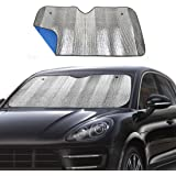 """Big Ant Windshield Sunshade for Car Foldable UV Ray Reflector Auto Front Window Sun Shade Visor Shield Cover, Keeps Vehicle Cool - Blue (55"""" x 27.5"""")"""