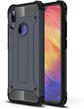 AOBOK Funda Xiaomi Redmi Note 7, Azul Profundo Moda Armadura ...