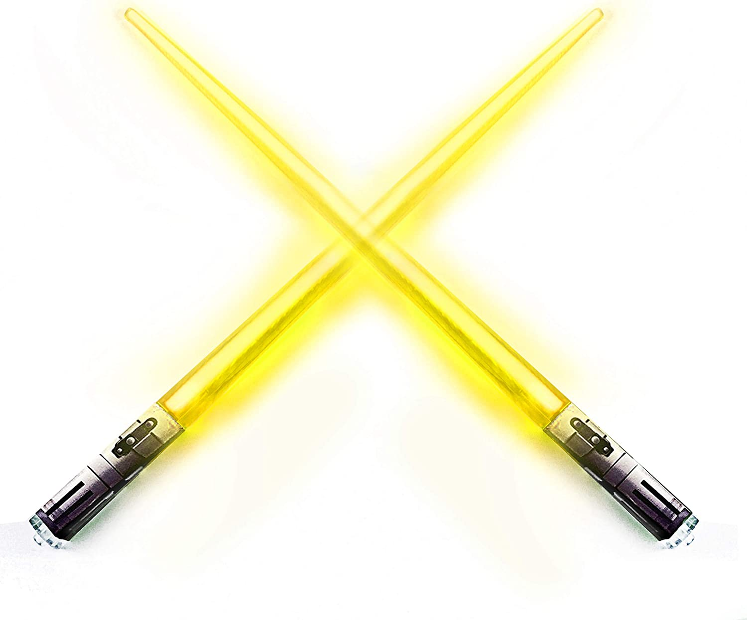 Chop Sabers Light Up LightSaber Chopsticks, 1 Pair, Yellow