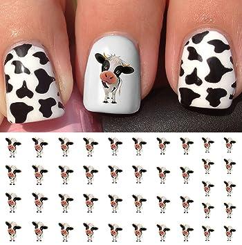 Amazon Com Cow Water Slide Nail Art Decals Salon Quality Beauty