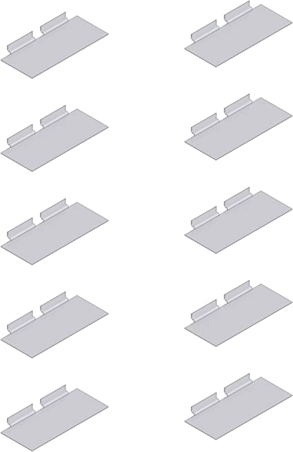 Kit Per Cabina Armadio.Kit 10 Ripiani Mensole Mensoline Plexiglass Plexi Porta Scarpe