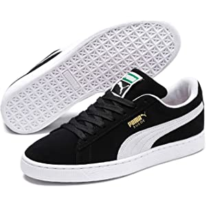 e140072258 Amazon.com: PUMA Suede Classic Leather Formstrip Sneaker,Black/Black ...