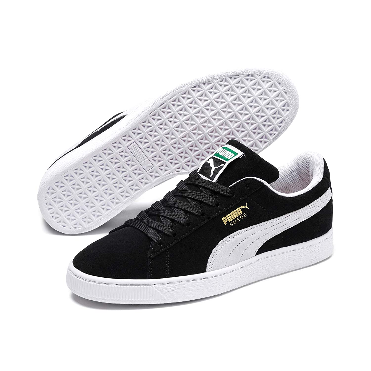 d787209059e Puma Suede Classic+, Unisex Adults Low-Top Trainers, Black (Black/White  03), 8 UK (42 EU): Amazon.co.uk: Shoes & Bags