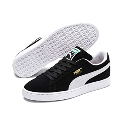 cheap for discount b27b6 eb3ae PUMA Suede Classic Sneaker,BlackWhite,4 M US Mens