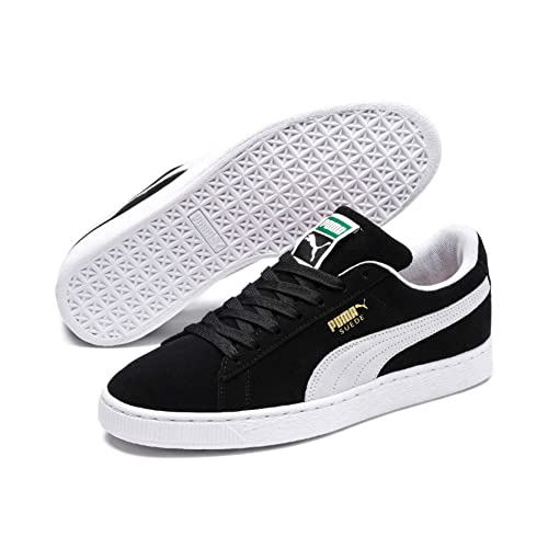 5722876d7118f5 Puma Men s Suede Classic+ Black and White Boat Shoes - 11UK India (46EU)