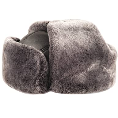 Image Unavailable. Image not available for. Color  OrlovNY Men s Sheepskin  Leather Winter Trapper Hunting Hat Ushanka Russian Hats 972e6adf17dd